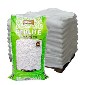 GROW!T Soils & Containers Pallet of 30 Bags - 4 Cubic Feet GROW!T #4 Perlite, Super Coarse, 4 Cubic Feet