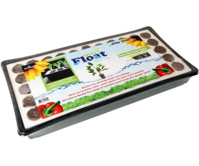 Jump Start Germination Hydrofarm Smart Float Grow Tray with Plugs