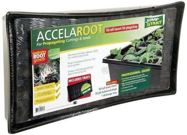 Jump Start Germination Jump Start AccelaROOT 50-Cell Tray w/Insert and Starter Plugs