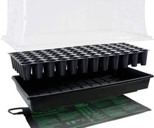 "Load image into Gallery viewer, Jump Start Germination Jump Start Hot House w/ Heat Mat, Tray, 72-Cell Insert, 7.5"" dome"