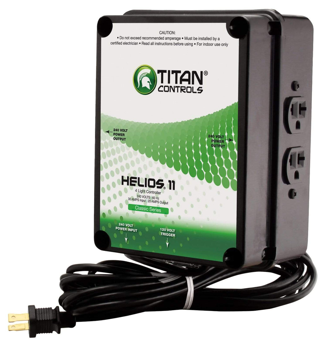 Sun System Grow Lights Titan Controls Helios 11 - 4 Light 240 Volt Controller w/ Trigger Cord