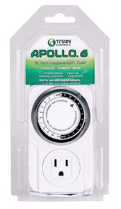 Titan Controls Grow Lights Titan Controls Apollo 6: 24 Hour Timer w/ 15 Minute Intervals