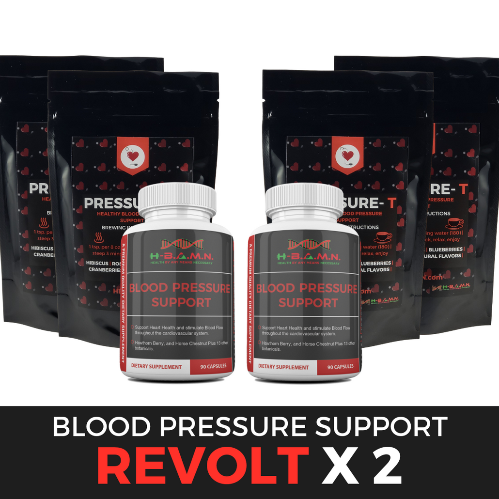 *Nubian Friday* REVOLT [ x2 ]- Blood Pressure Herbal Support & Nitric Oxide Booster Kit