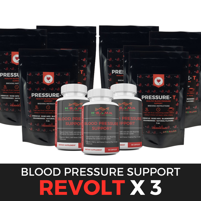 *Nubian Friday* REVOLT [ x3 ]- Blood Pressure Herbal Support & Nitric Oxide Booster Kit