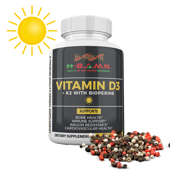 *Nubian Friday* [ 6 PACK ] Vitamin-D3 & K2 5,000 IU with Bioperine
