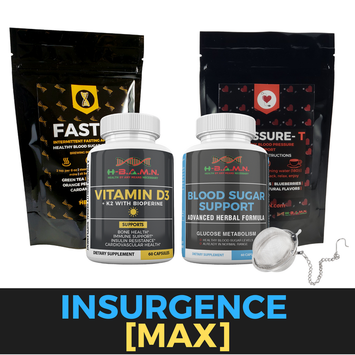 *Nubian Friday* INSURGENCE [MAX]- Blood sugar lowering Kit W/ Vitamin-D3/K2