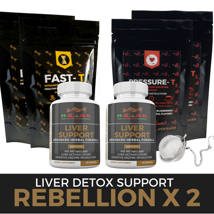 *Nubian Friday* REBELLION  [x2] - All natural Herbal Liver Support & Detox