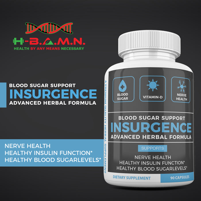 INSURGENCE- Blood Sugar | Vitamin-D | Nerve Health Support