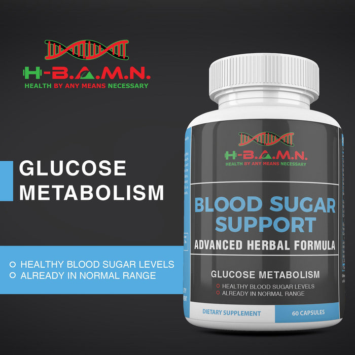 [ 6 PACK ] Advanced Herbal Blood sugar support- All natural Blood sugar lowering supplement [ POD30 ]