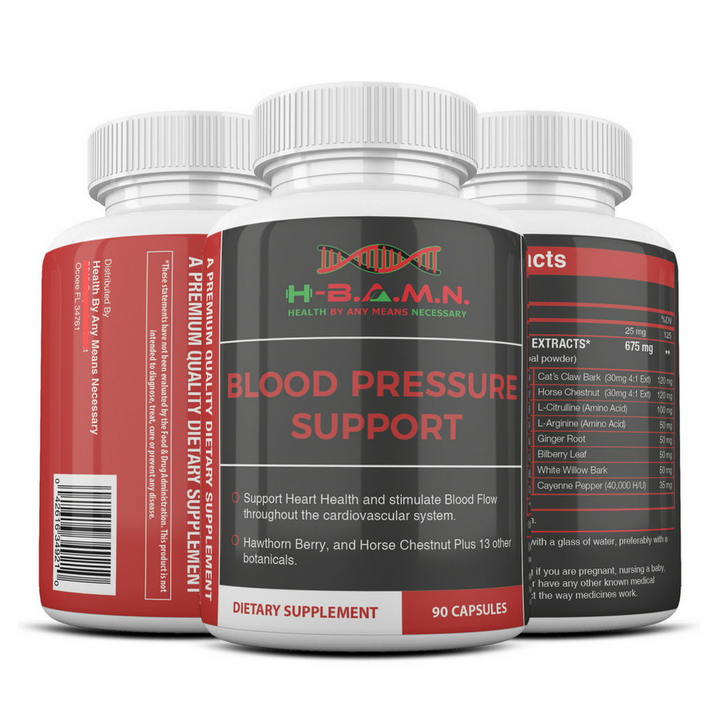 *Nubian Friday* [ 6 BOTTLES ] Blood Pressure Herbal Support- Nitric Oxide Booster