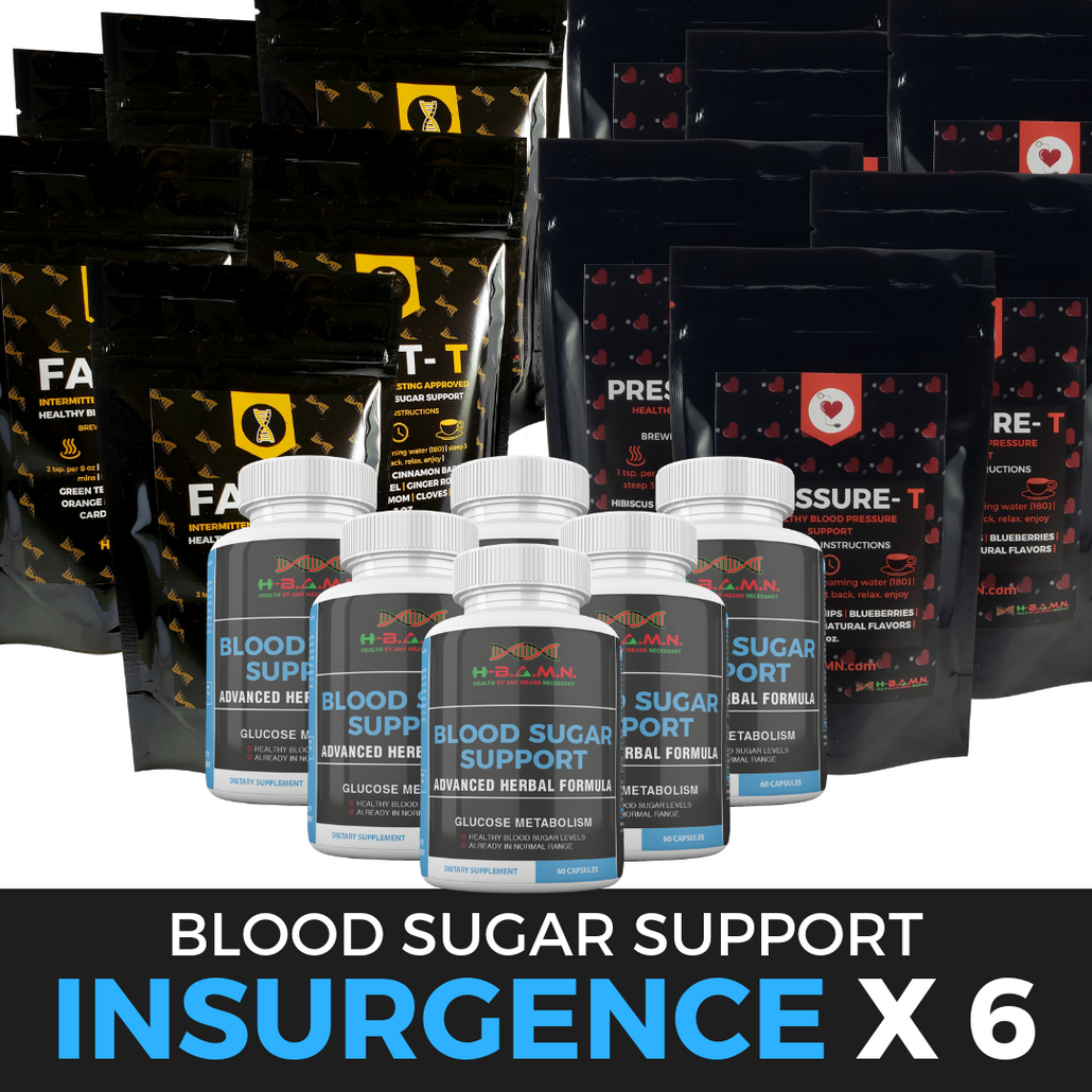 *Nubian Friday* INSURGENCE [ x6 ]- All natural Herbal Blood sugar lowering Kit