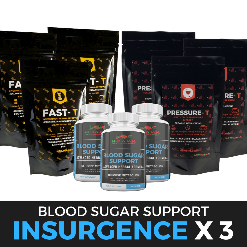 *Nubian Friday* INSURGENCE [ x3 ]- All natural Herbal Blood sugar lowering Kit