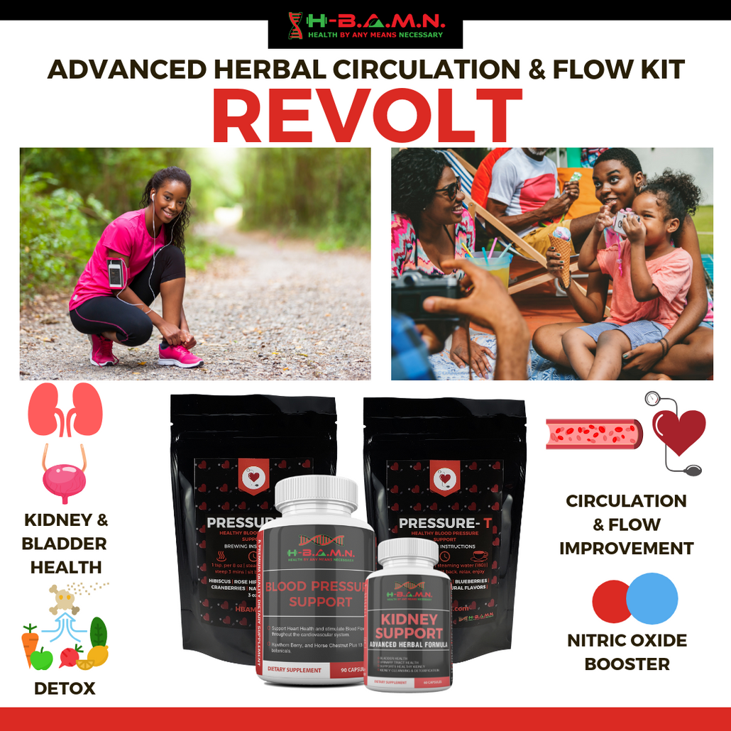 *Nubian Friday* REVOLT- Blood Pressure Herbal Support & Nitric Oxide Booster Kit