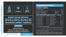 [2 STACK] INSURGENCE [MAX]- Blood Sugar | Vitamin-D | Nerve Health Support
