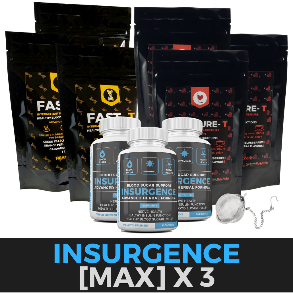 [3 STACK] INSURGENCE [MAX]- Blood Sugar | Vitamin-D | Nerve Health Support