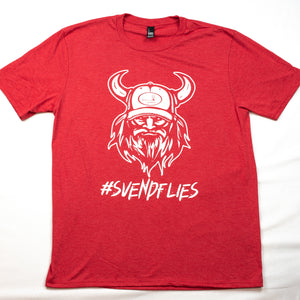 Men's Crew #Svendflies Tri-Blend Shirt (White Logo)