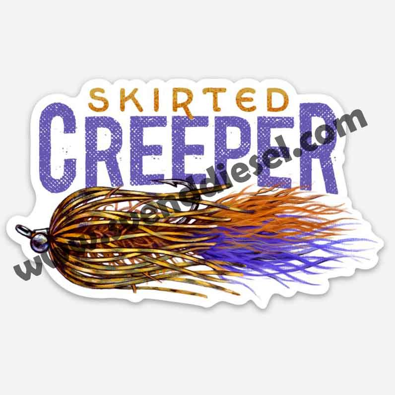 Skirted Creeper Sticker