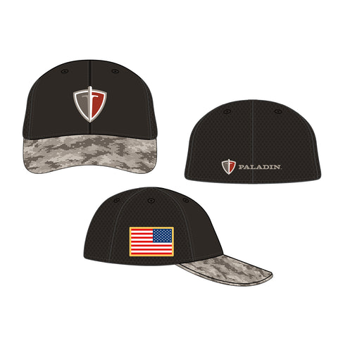 Camo Bill Fitted Hat L/XL