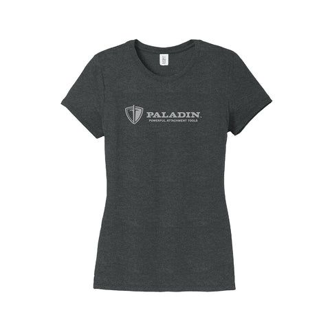 Women's Tonal Imprint Black Tri-Blend Tee