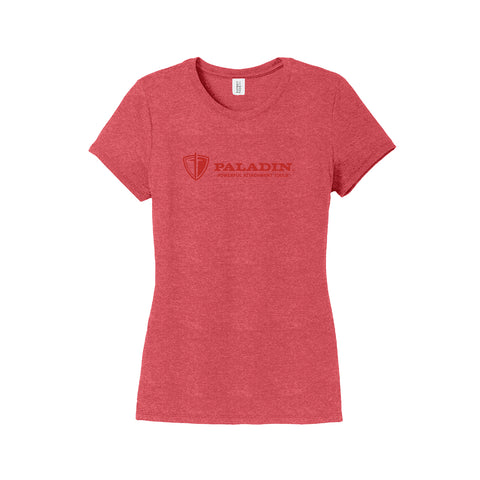 Women's Tonal Imprint Red Tri-Blend Tee