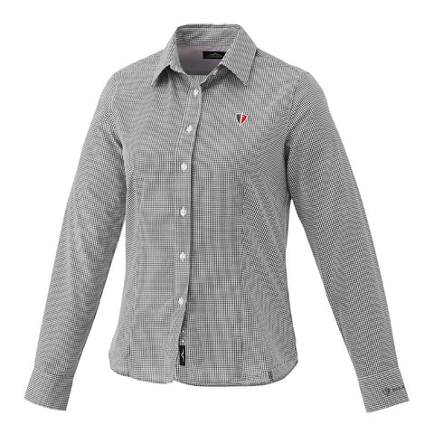 Women's Grey Quinlan Long Sleeve Dress Shirt