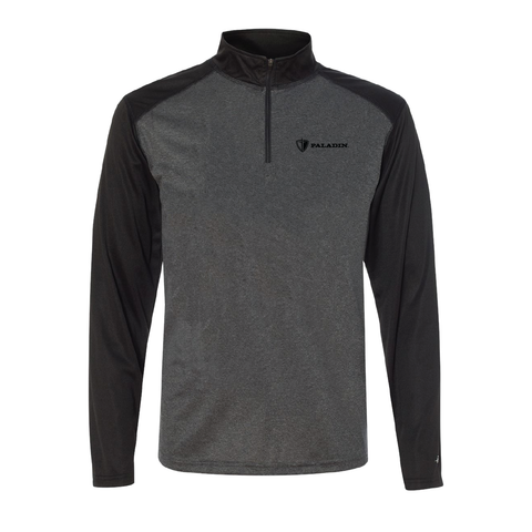 Carbon Hthr/Black Badger pro hthr quarter zip