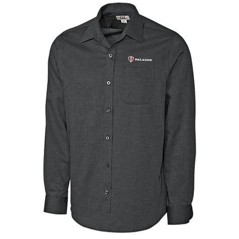 Black Tailored Fit Spread Nailshead Dress Shirt