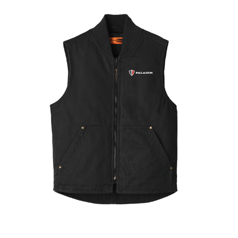 Black Cornerstone Washed duck cloth vest