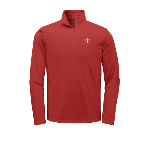 Red The North Face quarter zip