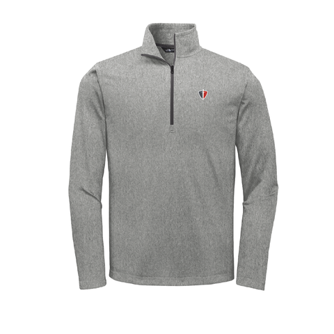 Asphalt Grey Hthr The North Face quarter zip