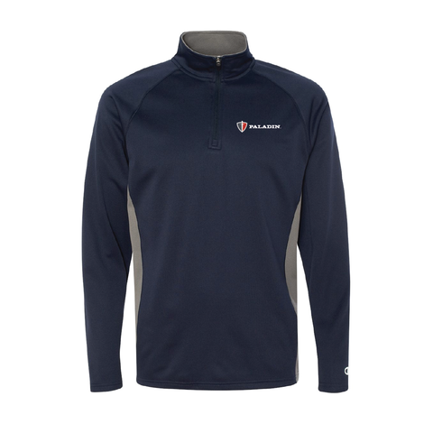Navy/Stone Grey Champion colorblocked perfomance quarter zip
