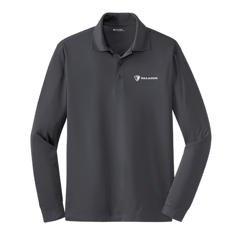 Iron Grey Sport Tek Long Sleeve Micropique Sport Wick Polo