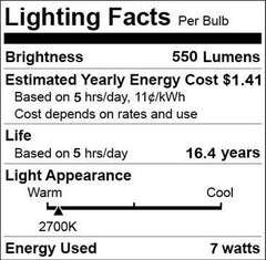 ChiChinLighting LED-A19-12v 12 Volt AC or DC LED Replacement for Up to 60 Watt Incandescent Lamp Warm White RV and Marine 50-Watt A19 12-Volt Light Bulb