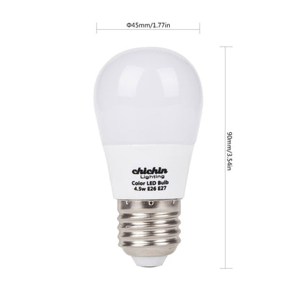 ChiChinLighting Pack-3 Red Color LED Bulb 5 Watts 40 Watts Equivalent E26 E27 Base AC 110 - 120v Red Light Bulb