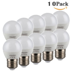 ChiChinLighting 5 watt G14 LED Globe Bulbs 10 Pack E26 E27 Base Mirror Vanity Light Bulbs Cool White 6000k