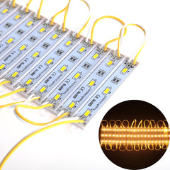 ChiChinLighting® Warm White 100pcs (20pcs x 5packs) Samsung 5630 SMD 3p LED Module Waterproof Super Bright LED Modules Sign LED Light 12V 3000K Warm White