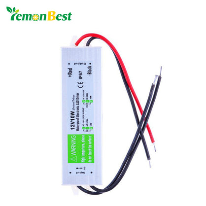 LemonBest DC 12V 10W Waterproof Electronic LED Driver Transformer Power Supply 110V 220V to 12V for underwater light Free ship