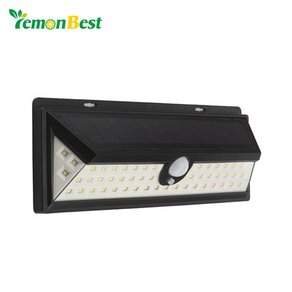 Waterproof IP65 54 LED Solar Light 2835 SMD Outdoor LED Garden Lighting PIR Motion Sensor Emergency Pathway Wall Solar Lamp