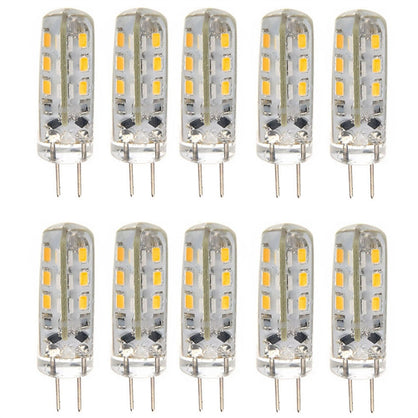 10pcs Energy-saving G4 DC 12V 1.5W 24 3014 SMD LED Bulbs LED Lamps Lights