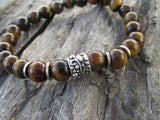 Tiger Eye Men's Beaded Bracelet