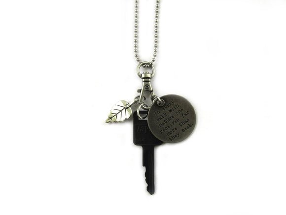 John Muir Quote Necklace