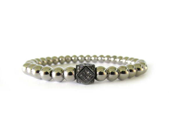 Women's Stainless Steel Beaded Bracelet