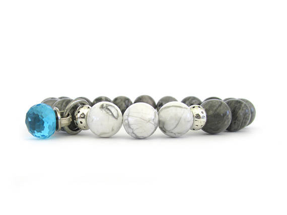 Women's Bracelet with Sparkling Crystal Drop