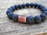 Lava Rock Men's Bracelet