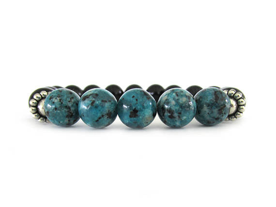 Women's Agate and Onyx Bracelet
