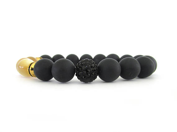 As Seen on Fuller House, Black Onyx Bracelet
