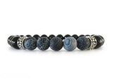 Men's Onyx and Agate Bracelet