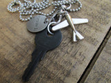 Airplane TRAVEL Key Necklace