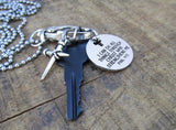 Philippians 4:13 Key Charm Necklace