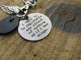 Mary Oliver Literary Key Charm Necklace
